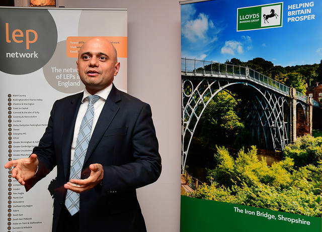 The Rt Hon Sajid Javid MP, Secretary of State, Ministry of Housing, Communities & Local Government