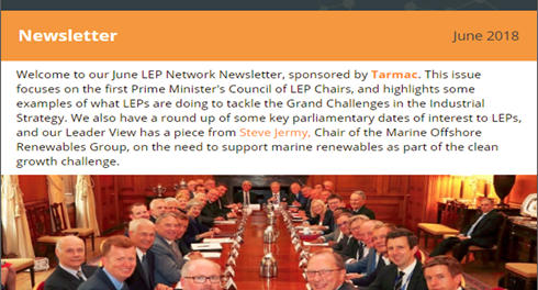 LEP Network newsletter - June 2018