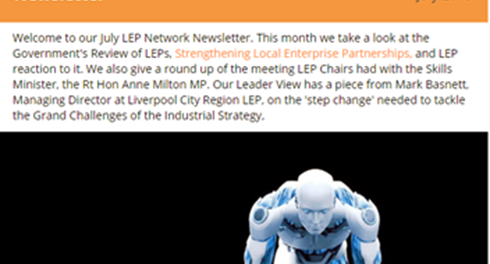 LEP Network Newsletter July 2018