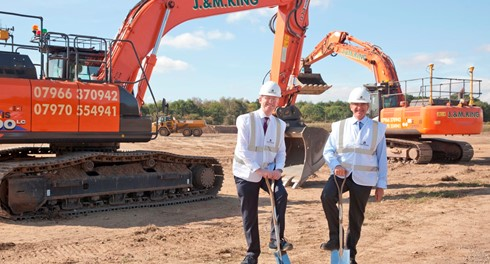 "Jeremy Wright ""breaks ground"" at Pinewood Studios' new stages"