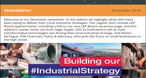 December Newsletter - Industrial Strategy One Year On