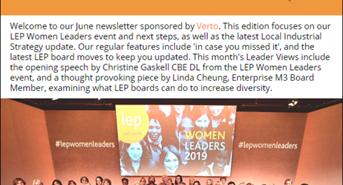 """An exceptional group of women leaders"" - our June newsletter features our milestone LEP Women Leaders event."